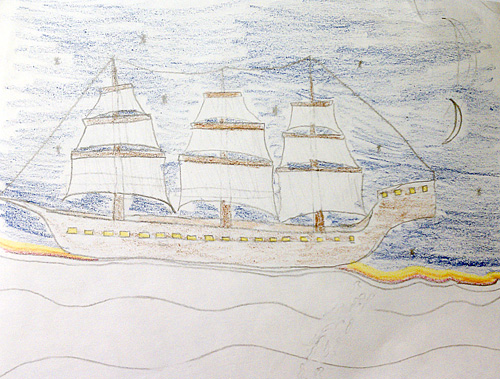 Galleon at sea
