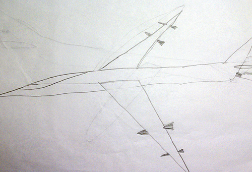 Airplane with missiles