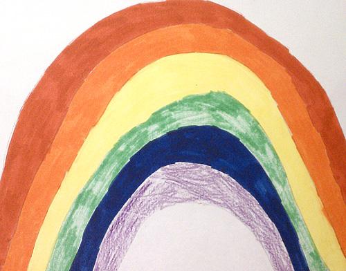 Look, a pretty rainbow